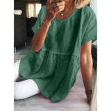 Casual Short Sleeve Solid Color Blouse