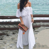 Casual Summer Off-The-Shoulder Dress