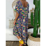 Bohemian V Neck Printed Maxi Dress