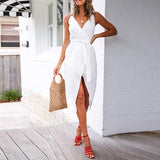Sexy V Neck Sleeveless Dress