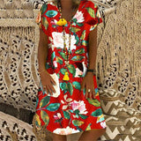 Flower Printed Loose Casual Dresss