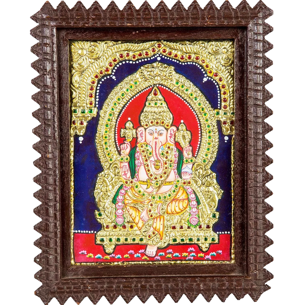Ganesha Indian Tanjore Painting