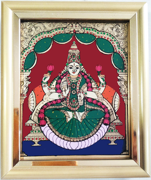 Lakshmi Tanjore Glass Painting