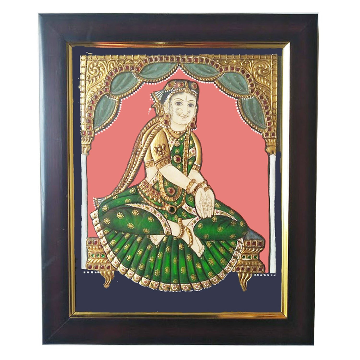 Welcome Girl Tanjore Painting