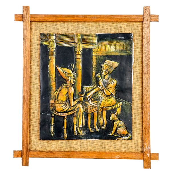 "Mangala Art Egyption Jute Mural Work Wall Decor - 27x30cms (11""x12"")"