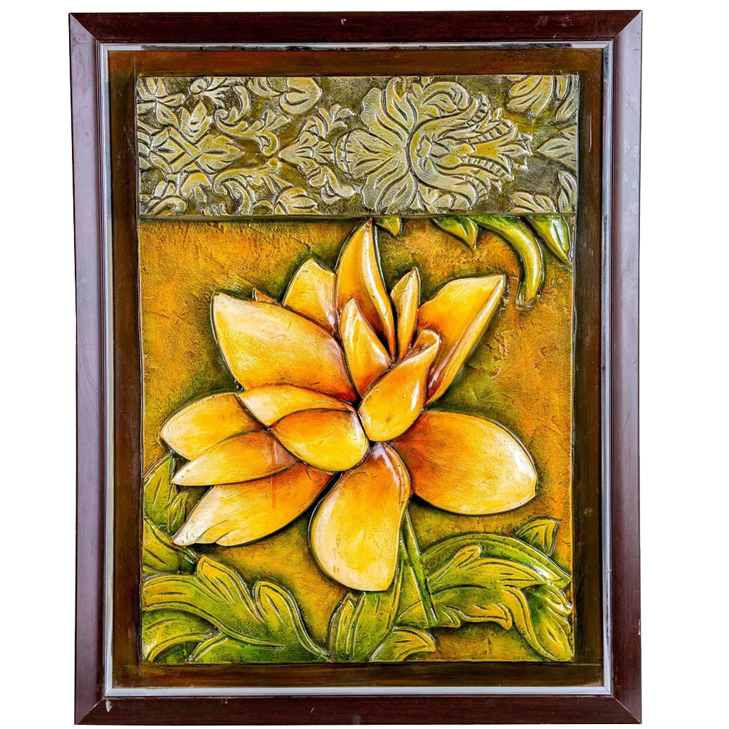 "Mangala Art Flower Mural Work Wall Decor - 56x71cms (22""x28"")"