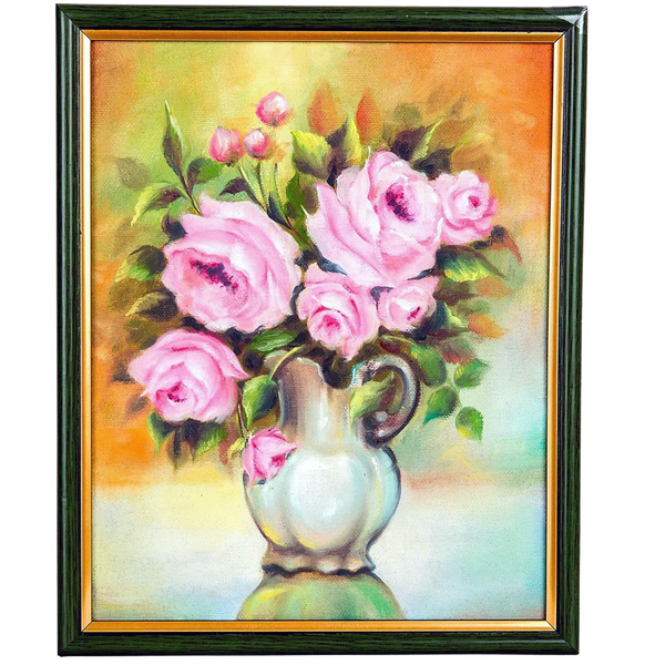 Mangala Arts Flower Vase Wall Decor Canvas Painting