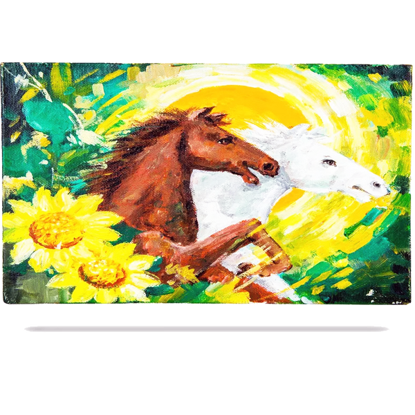 Mangala Arts Horse Wall Decor Canvas Oil Painting
