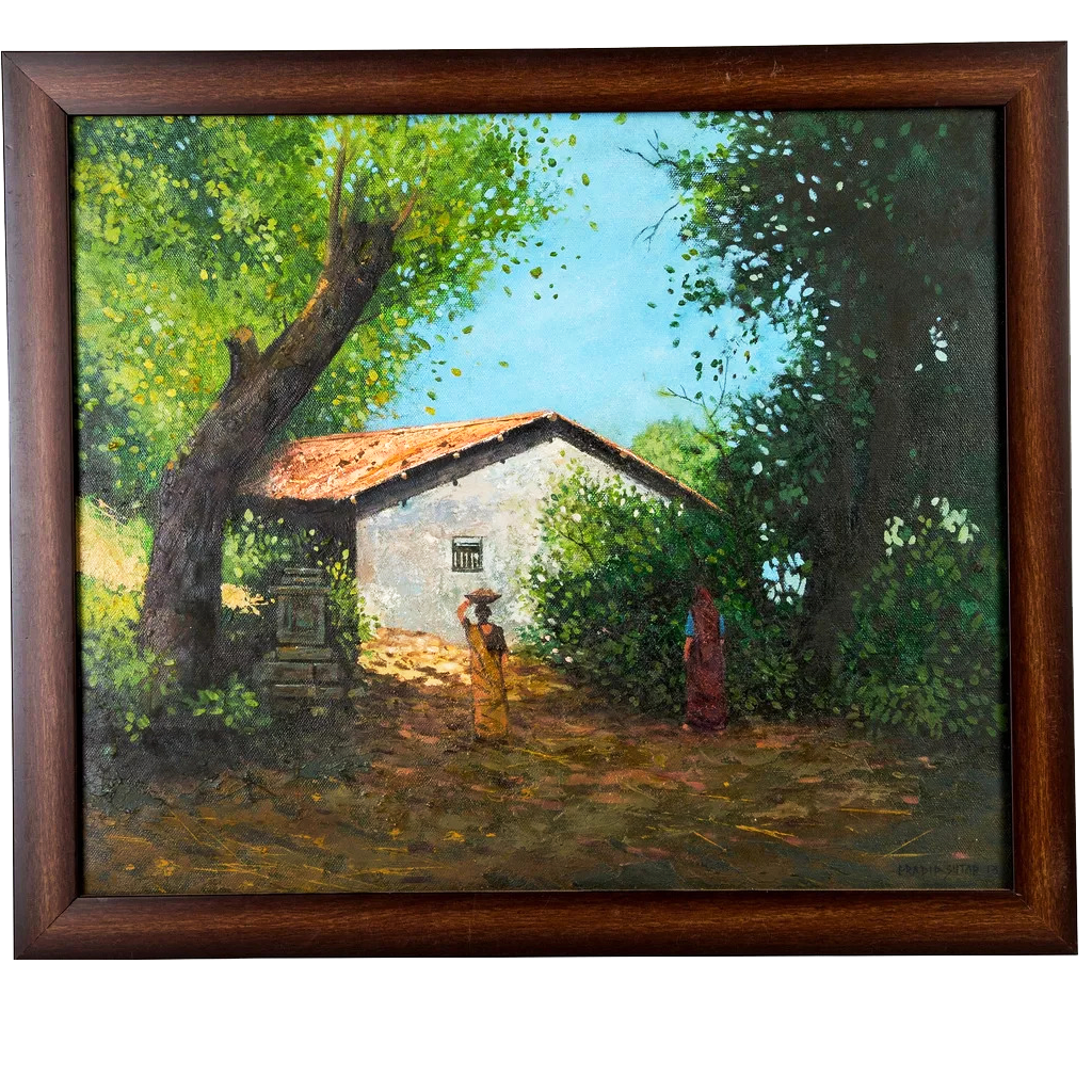 Mangala Arts House Wall Decor Canvas Oil Painting