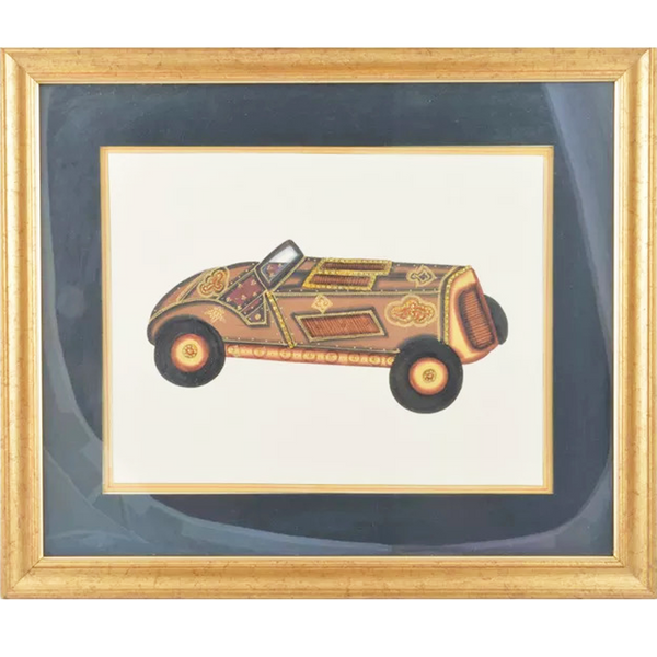 Jeep Paper Gold Paint Tanjore Artwork Wall Decor