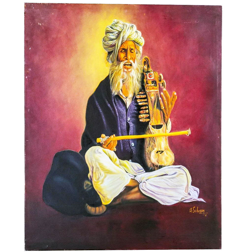 Mangala Arts Musician Wall Decor Canvas Oil Painting