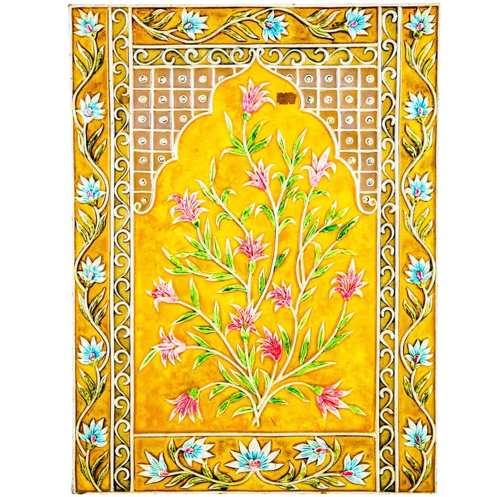 "Mangala Art Plant Mural Work Wall Decor Canvas Oil Painting Without Frame - 60x46cms (24""x18"")"