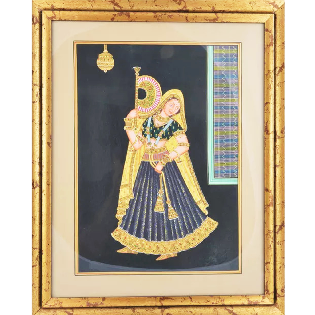 Queen Paper Gold Paint Tanjore Painting