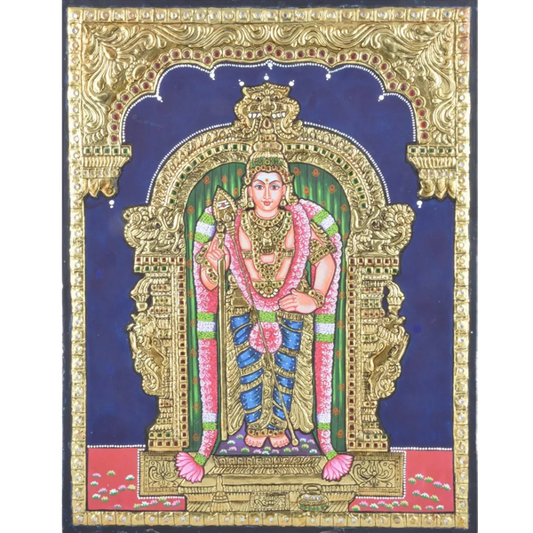 Mangala Arts Raja Alankaram Murugan Tanjore Paintings