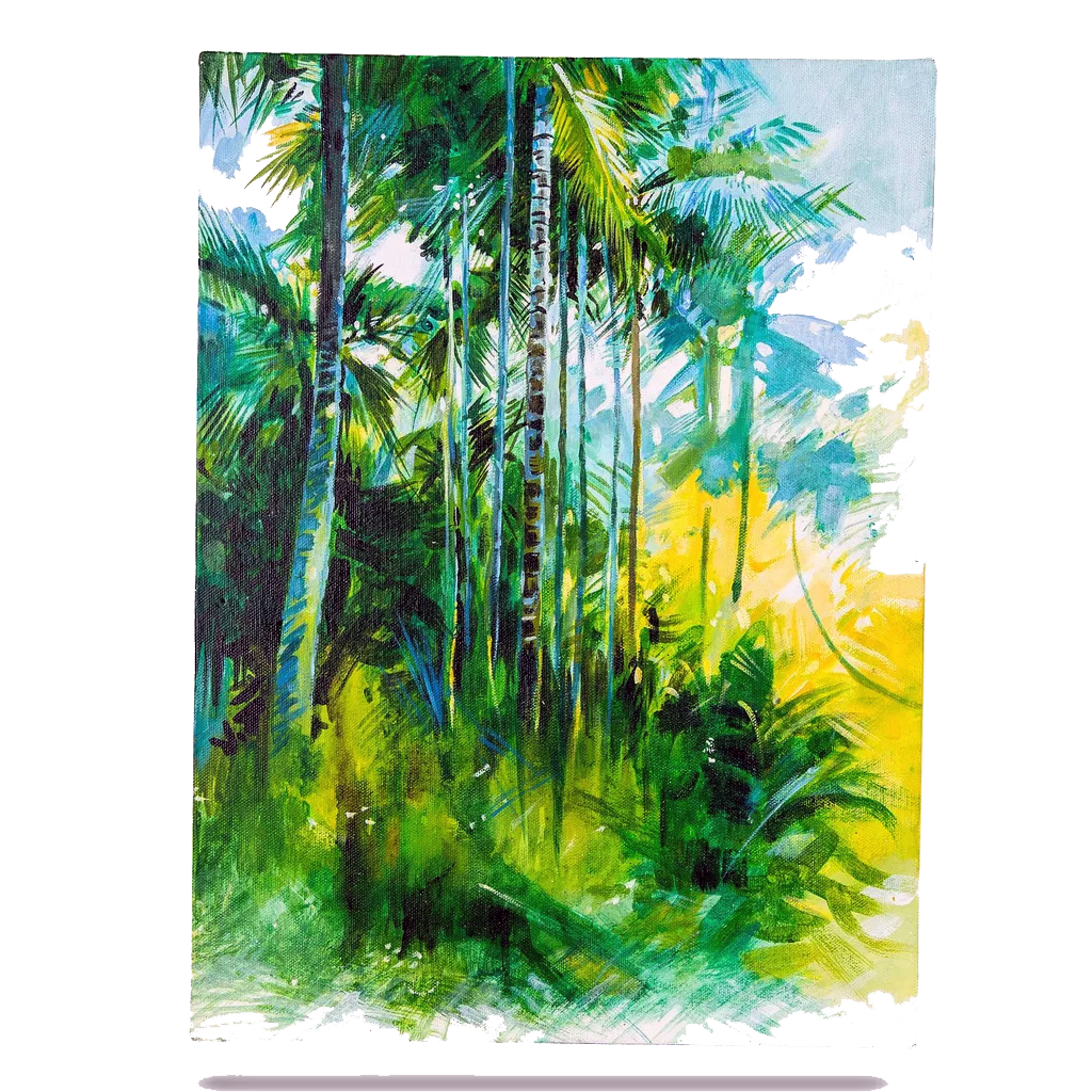 Mangala Arts Scenery Wall Decor Canvas Oil Painting