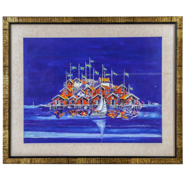 Mangala Arts Ship Wall Decor Canvas Oil Painting