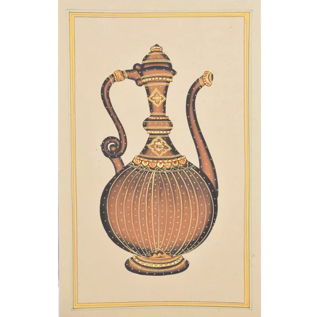 Small Jaadi Paper Gold Paint Tanjore Painting