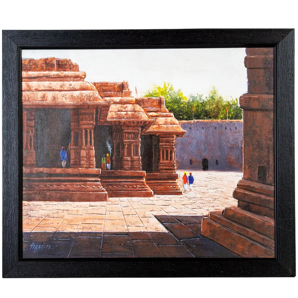 Mangala Arts Temple Wall Decor Canvas Oil Painting