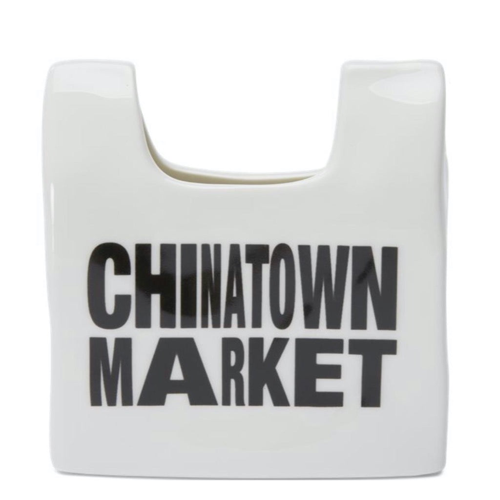 Chinatown Market Smiley Bag Ceramic Pencil Holder
