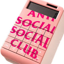 Anti Social Social Club Calculator - Pink