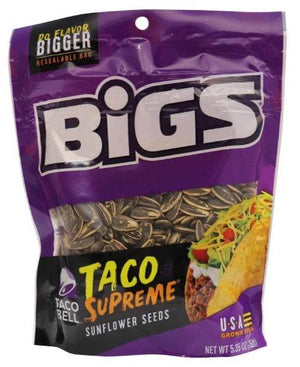 Bigs Taco Supreme Sunflower Seeds. (USA) - Bunka