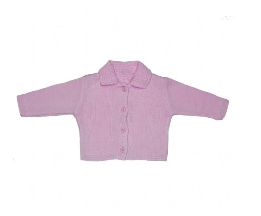 Baby Pink Knitted Edge Cardigan