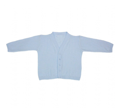 Baby Boys Blue Knitted Detail Cardigan - Logan