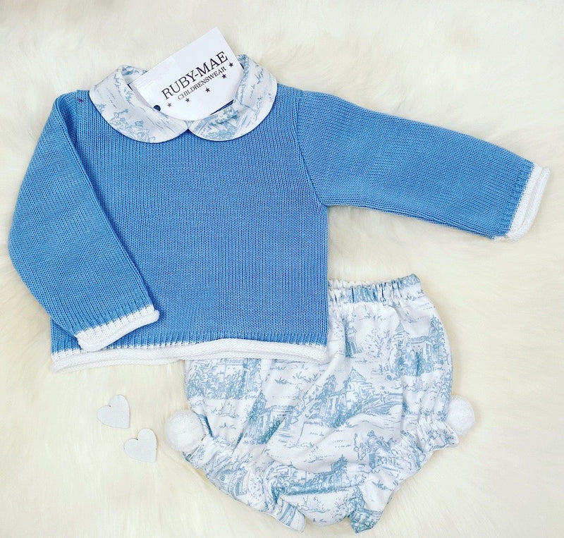 Blue Knitted Jumper & Bloomers Outfit - Ralphie
