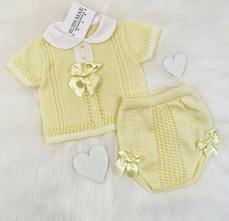 Lemon Bow Front Two Piece Outfit - Sonja