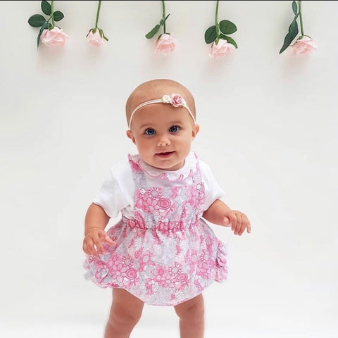 Pink Frill Neck Dress With Matching Knickers Outfit - Porsha