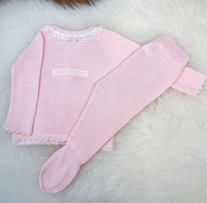 Pink Knitted Two Set Piece - Kandy