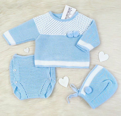 Unisex Grey Knitted Two Piece Outfit