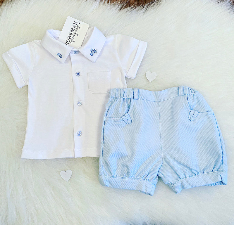 Blue And White Two Piece Outfit - Gabriel