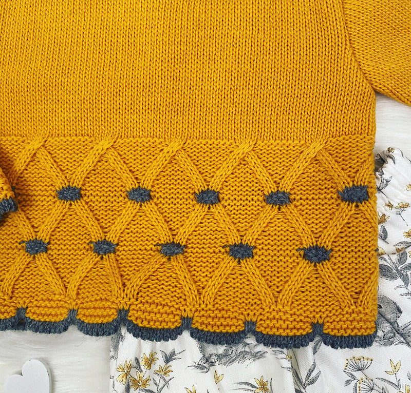 Mustard Knitted Detailed Jumper And Jam Pants Outfit Set- Kathryn