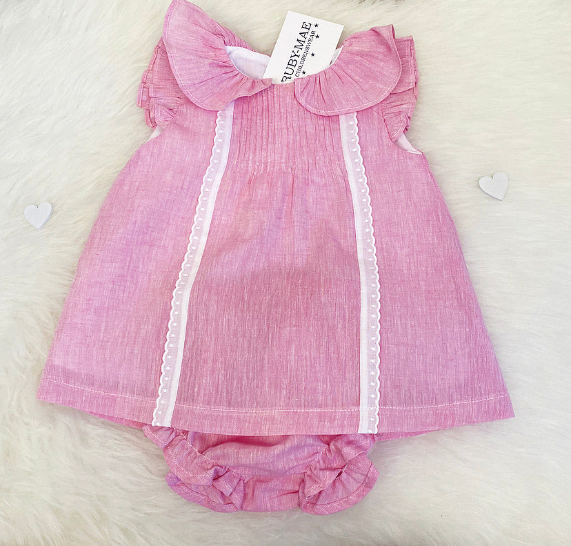 Pink Dress With Matching Knickers - Sierra