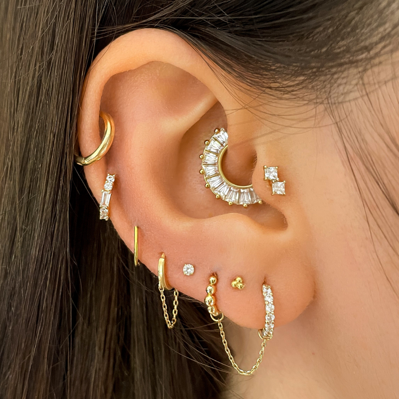Monika - Crown Crystal Stud Earring