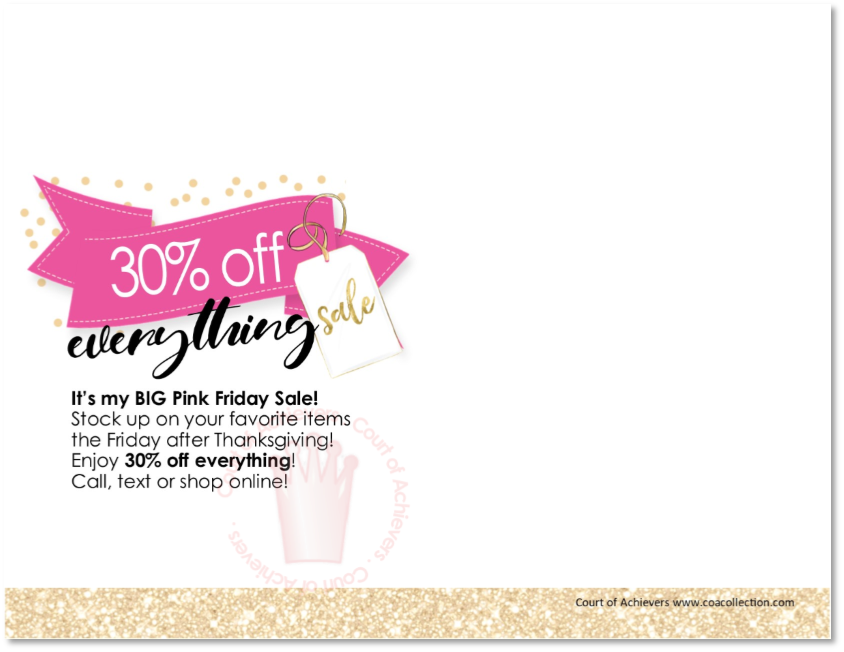 30% off Pink Friday