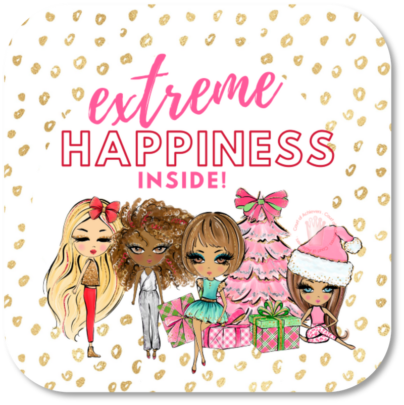 Holiday Extreme Happiness Inside Sticker