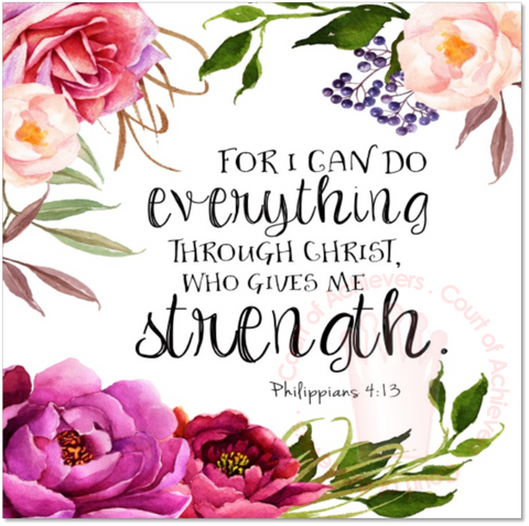 For I can do everything through Christ