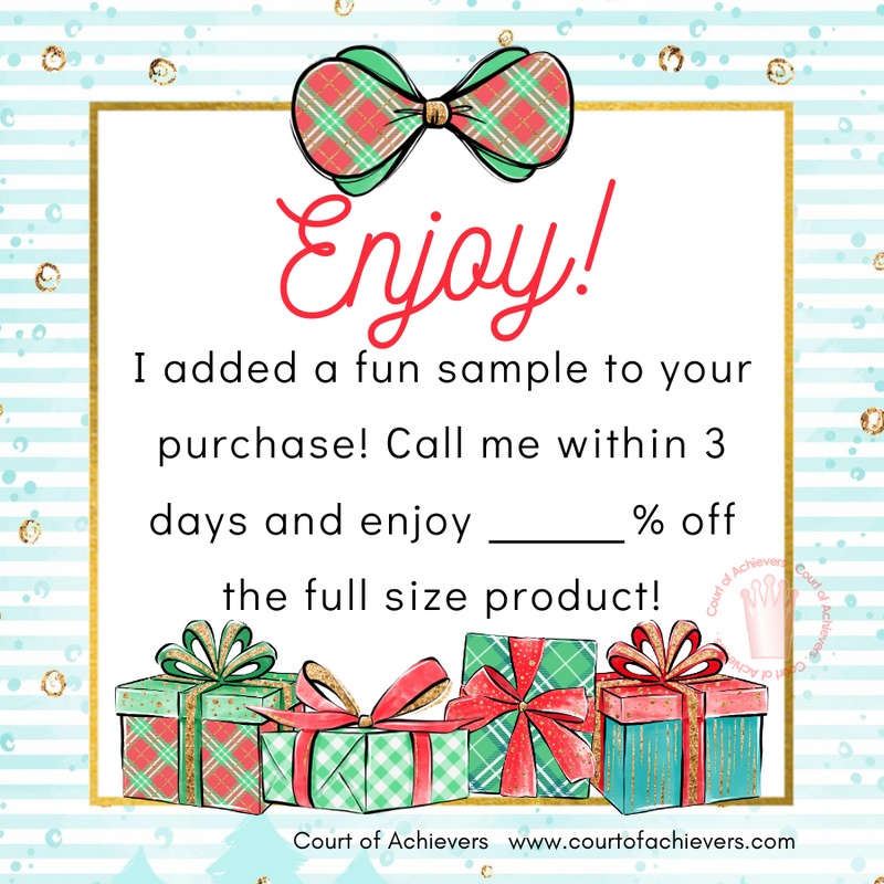 Sample Inside Chat Card - Holiday Edition