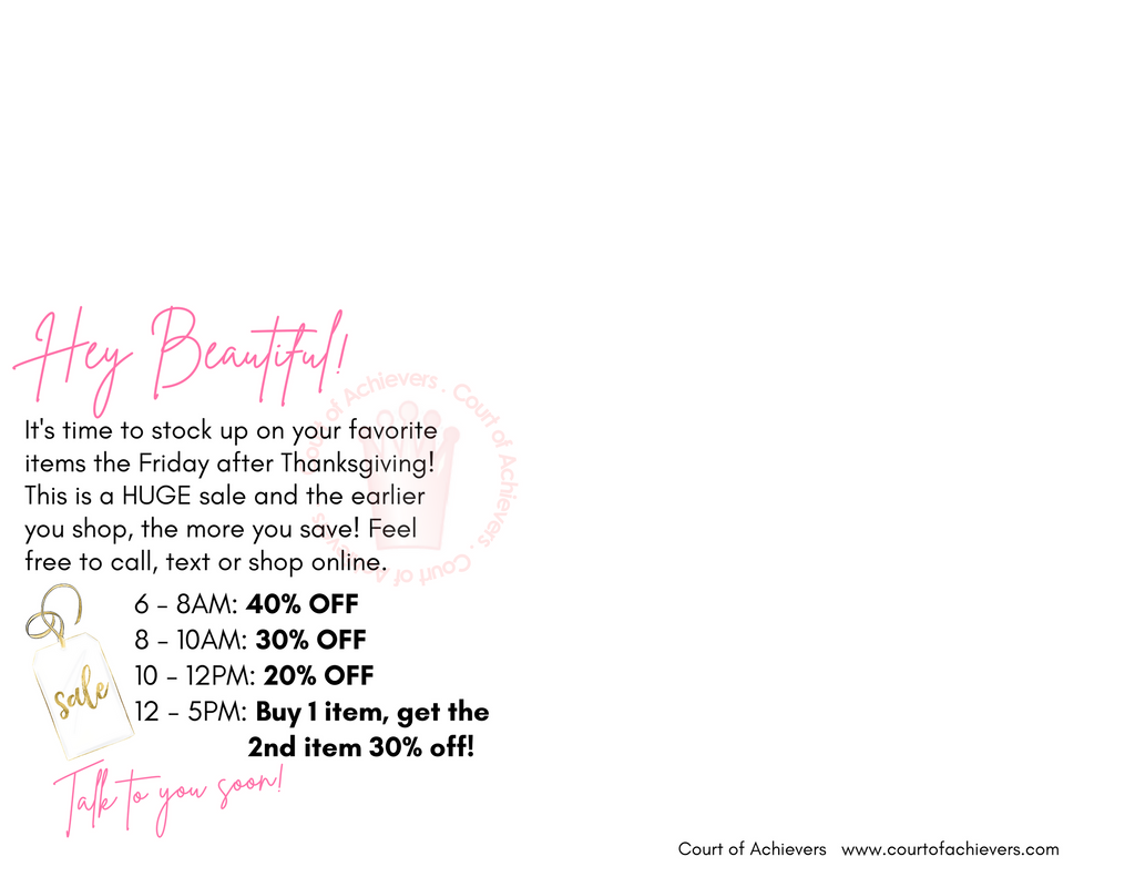 Shop my Pink Friday Sale!