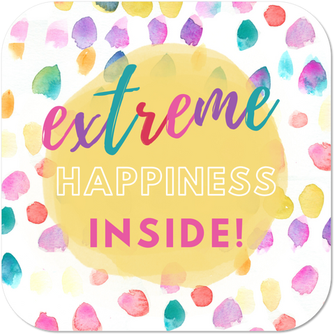 Extreme Happiness Inside Sticker
