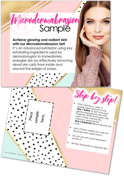Microderm Sample Card