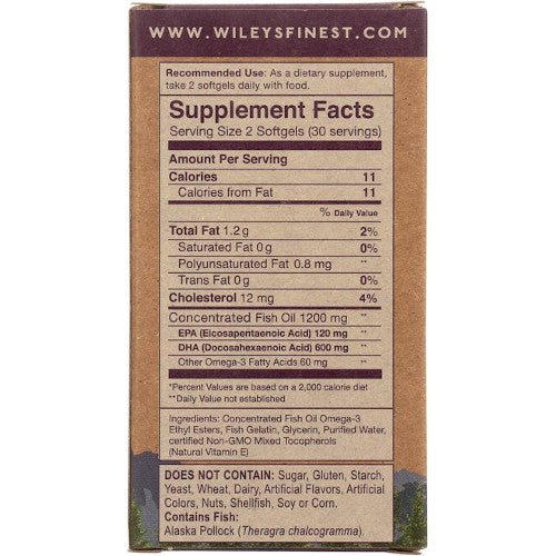 Wiley's Prenatal DHA 180 Softgels-Wiley's-Ur Vitamins