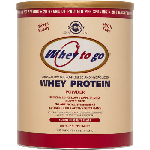 Solgar - Whey To Go Protein Chocolate Flavor 41 oz