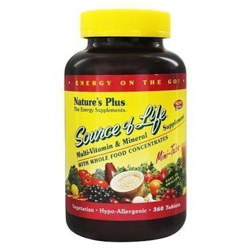 Source Of Life Mini-Tabs 360-Nature's Plus-Ur Vitamins