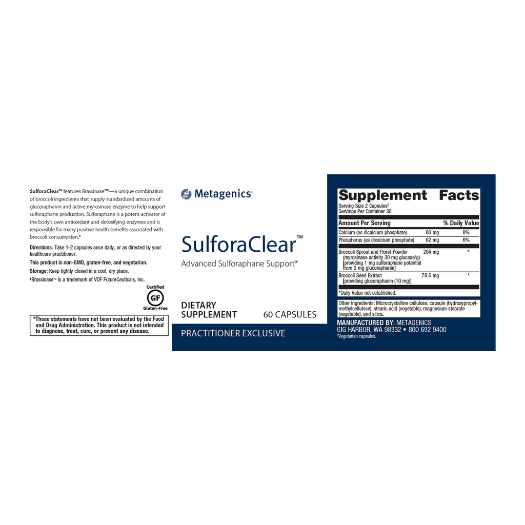 Metagenics SulforaClear 60 Caps