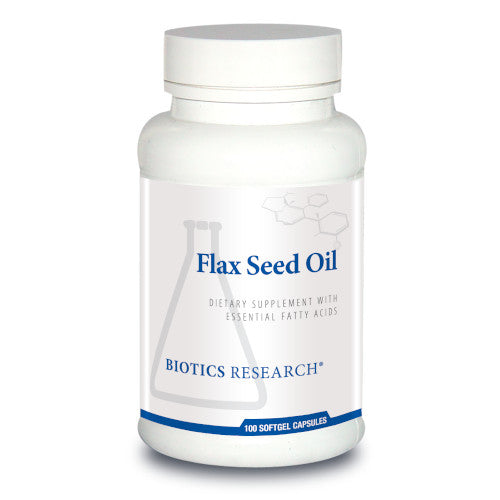 Biotics Research Flax Seed Oil Caps 100 Caps