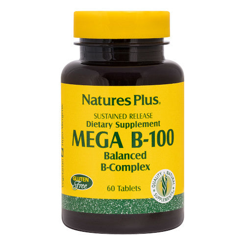 Nature's Plus Mega B 100 60 Tablets-Nature's Plus-Ur Vitamins