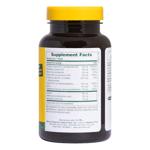 Nature's Plus Mega B 150 60 Tablets-Nature's Plus-Ur Vitamins